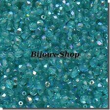 100 Perles de Boheme Facette 4 mmm Zircon AB