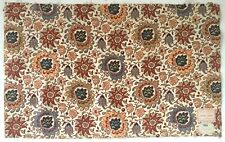 Beautiful Early 20th C. French Printed Exotic Floral Cotton Fabric (2612)