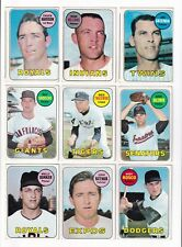 *1969 Topps 2nd Series Baseball PICK LOT-YOU Pick any 2 of 27 cards for $1!*