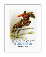 EQUESTRIAN HORSE JUMPING EVENT FRANCE FENCE Poster Sport Canvas art Prints