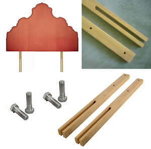 """30"""" Large Headboard Struts Legs For Bed Slotted Multi Fit Pre Drilled Screw Pair"""