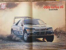 ARTICOLO PEUGEOT 405 TURBO 16 GRAND RAID   CON POSTER -- 1988