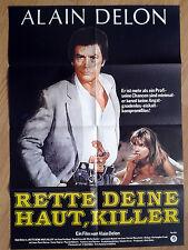 ALAIN DELON Pour la peau d'un flic - vintage German poster 1981 style A
