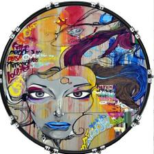 "20"" Custom Bass Kick Drum Front Head Graphic Graphical Graffiti 6"