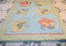 sumersault crib comforter grasshopper,dragonfly bee snail and caterpiller beetle