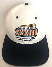 190a9404d Super BOWL XXXIII 33 Snapback Adjustable Hat Cap NFL 1999 Denver Broncos NEW