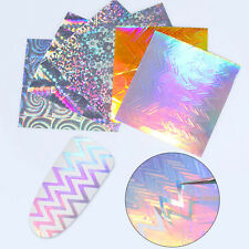 6 Sheets BORN PRETTY Holo 3D Nail Stickers Sawtooth Nail Foil Candy Decals DIY