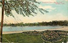 Buffalo New York~Humboldt Park Wading Pool~Steps~Flower Garden~1910 Postcard