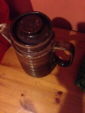 Vintage large brown glazed coffee pot/pitcher