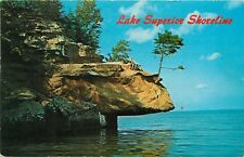 Lake Superior Shoreline Circle Route pm 1979 Iron Mountain Michigan MI Postcard