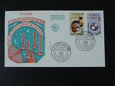 telecommunications world day FDC Tunisia 1973