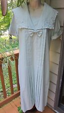 Vintage Laura Ashley Blue  Edwardian Linen Sailor Garden Dress~NEVER WORN  Sz l0