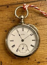 """Banner"" 18S Kw Ks Pocket Watch Waltham Model 1877 11 Jewel William Ellery"