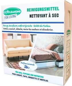 Bio! Natürliches Teppich Polster Reiniger Reinigungspulver für 25m² Lavendelduft
