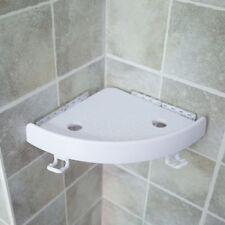 Shower Shelf Bathroom Corner Bath Suction Cup Rack Storage Holder Organizer Tray