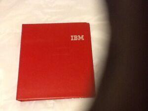 Vintage IBM 3 Ring Binder