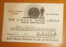 1966 Man From UNCLE cast fan club membership card ID pass
