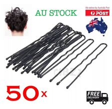 50x Hair Pins U Shape 6cm Clip Bobby Quality Metal Grips Bun Styling Unisex Tool