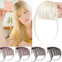 Russian Blonde Clip In Hairpiece Air Fringr Bang 100% Remy Human Hair Extensions