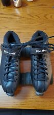 Used Riedell R3 Black Quad Roller Derby Speed Skates!