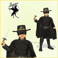 Zorro Costume Muscle Dlx Boys Kid Book Week Hat Mask Cape Belt Bootc* 5-7y Child