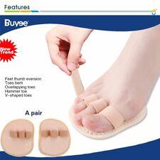 2x Triple-Toe Support Straightener Pad Splints Hammer Overlapping Toe Corrector