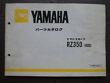 JDM YAMAHA RZ350 4U0 Original Genuine Parts List Catalog RZ 350