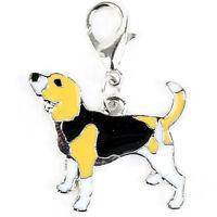 Mini ciondolo pendente targhetta lega Beagle collare cane dog animale domestico