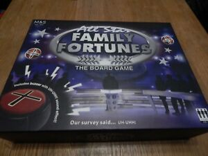 FAMILY FORTUNES BOARD GAME by M&S Never played with