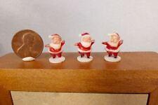 3 vtg TINY Santa miniature plastic Christmas figures dollhouse Designland crafts