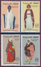 1969 MAROC N°590/593** Costumes (IV), 1969 MOROCCO Complete Set MNH