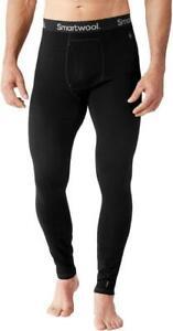 Men's SMARTWOOL Merino 150 Base Layer Bottoms BLACK Wool Blend Pants