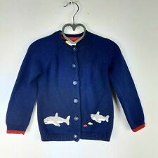 Baby Boden Boys Shark Embroidered Navy Cardigan 18-24 Months
