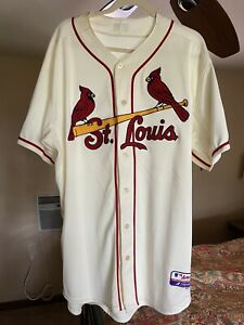 St Louis Cardinals Jersey Majestic Cool Base Stan Musial #6 Authentic Collection
