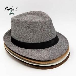 Mens Fedora Hat Trilby Summer Beach Sun Straw Hats Men Womens Panama Cap Brim