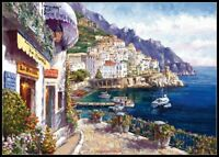 Afternoon in Amalfi - Chart Counted Cross Stitch Pattern Needlework Xstitch DIY