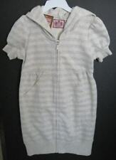 Juicy Couture Girls Silver Striped Hooded Dress (7) NWT