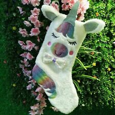 Unicorn Embroidered Xmas Stocking Luxury Sack Home Christmas Tree Nitmd Hono_