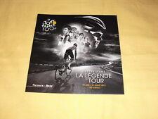"""TOUR DE FRANCE 2013 Flyer Dépliant """"Parcours"""""""
