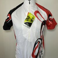 Crane White Red Black Men's Cycling Jersey Shirt M NEW TAGGED