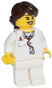 ☀️NEW LEGO Minifig Doctor Female Girl w Stethoscope nurse hospital minifigure