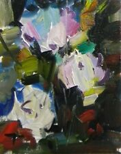 JOSE TRUJILLO - ORIGINAL Oil Painting FLOWERS ABSTRACT Expressionism MODERNISM