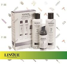 Nioxin Starter Kit 2 Noticeably Thinning for Fine Natural Hair Treatment Pack