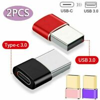 2x USB 3.0 (Type-A) Male to USB 3.1 (Type-C)Female Converter Adapter Connector