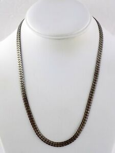 18K GP Silvertoned Gold Plated Chain Necklace 20 Inches S Link Pattern 19 Grams