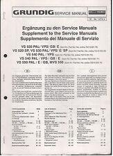 Service MANUAL GRUNDIG VIDEO RECORDER vs520pal vs50sp vs540 vs550 TOP!