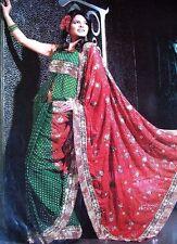 Bandini Georgette India Cocktail Party Dress Sari Saree