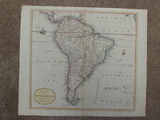 "Dilly & Robinson's Map -1785- ""MAP of SOUTH AMERICA"" - Hand-Colored Engraving"
