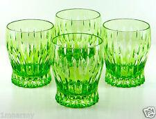 Faberge Na Zdorovye Dof Rocks Whiskey Glasses Lime Green Peridot Cased Crystal