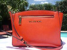 Michael Kors Sophie Medium Leather Messenger Shoulder Bag MANDARIN $258 NWT